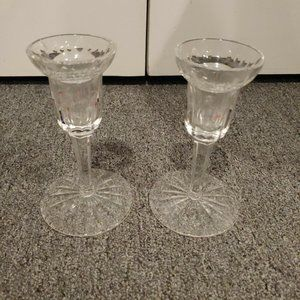 Pair of WATERFORD Crystal Candlesticks Candle